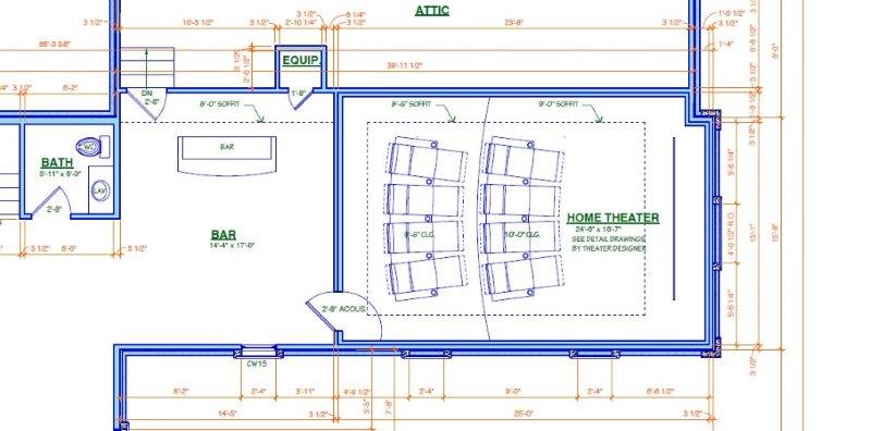 Home theater room floor plan house design plans - Home theatre design layout ...